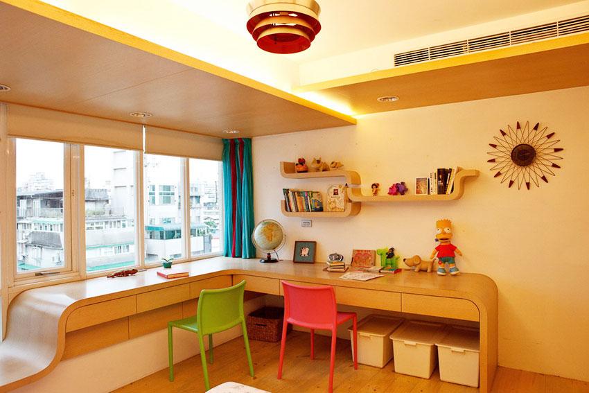 现代温馨Loft公寓儿童房