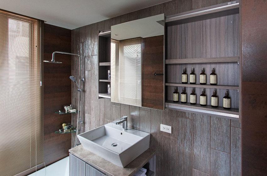 现代都会实木浴室柜
